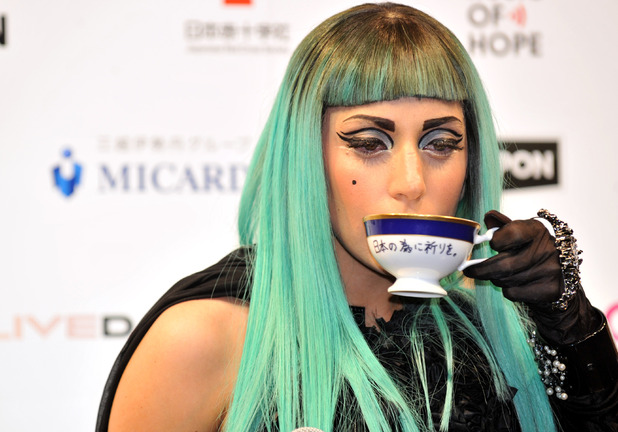 Lady Gaga press conference promoting MTV Video Music Aid Japan, Tokyo, Japan