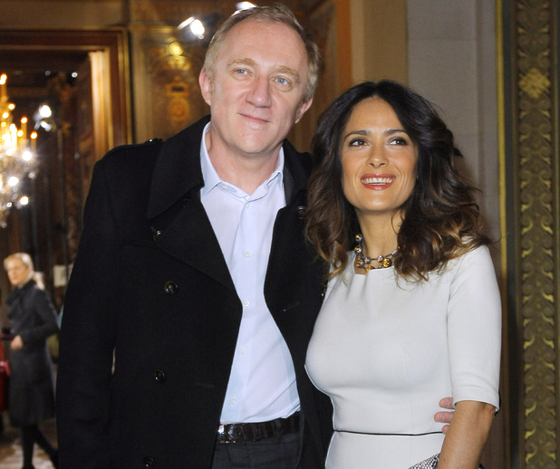 Salma Hayek, Francois-Henri Pinault - Paris Fashion Week, March 2012