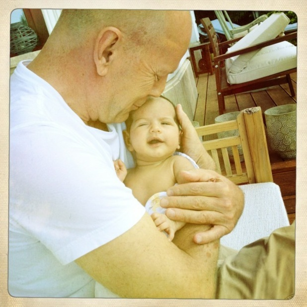 Bruce Willis with new child Mabel