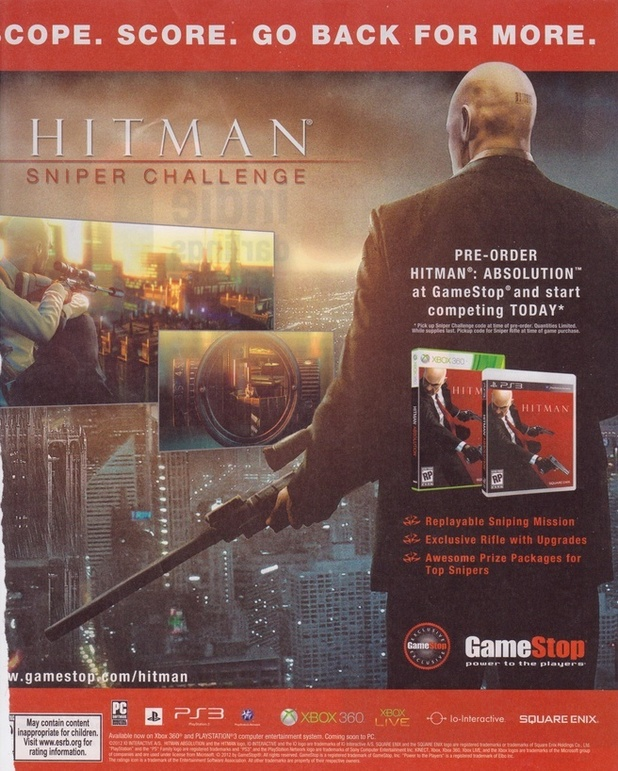 'Hitman Sniper Challenge' newspaper advert
