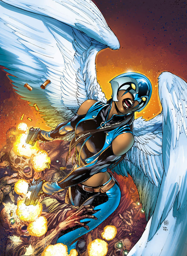 'Earth 2' cover: Hawkgirl