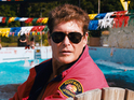 David Hasselhoff's likeness is being used to promote iced coffee in New England.