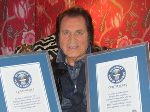 Engelbert Humperdinck with his oldest male Eurovision Song Contest entrant certificate.