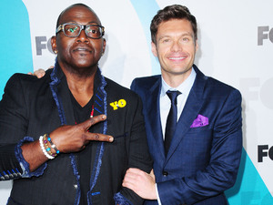 Randy Jackson and Ryan Seacrest 2012 Fox  Upfront Presentation held at the Wollman Rink - Arrivals New York City