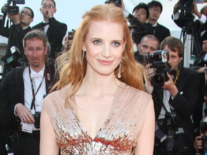Jessica Chastain arrives for the Lawless premiere.