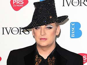 Boy George at the 2012 Ivor Novello awards held at the Grosvenor House Hotel, London
