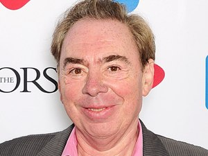 Sir Andrew Lloyd Webber with the Basca Fellowship award at the 2012 Ivor Novello awards held at the Grosvenor House Hotel, London