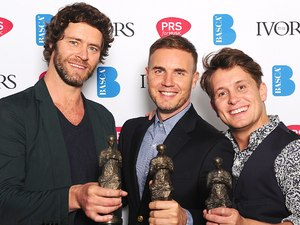 Howard Donald, Gary Barlow, Mark owen, Ivor Novellos