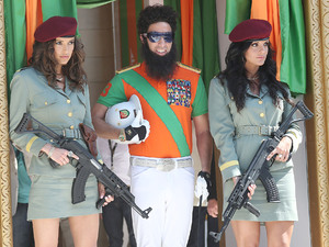 Sasha Baron Cohen dressed as Admiral General