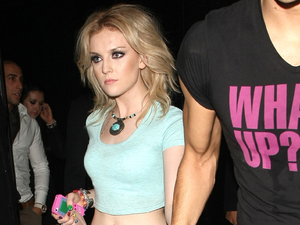 Little Mix's Perrie Edwards Celebrities leave The Rose Club London