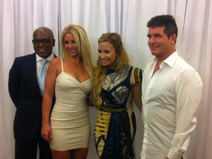 X Factor USA judges Britney Spears, Simon Cowell, Demi Lovato and LA Reid