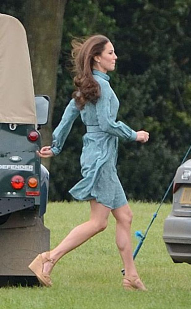 Duchess of Cambridge at the polo with Prince William