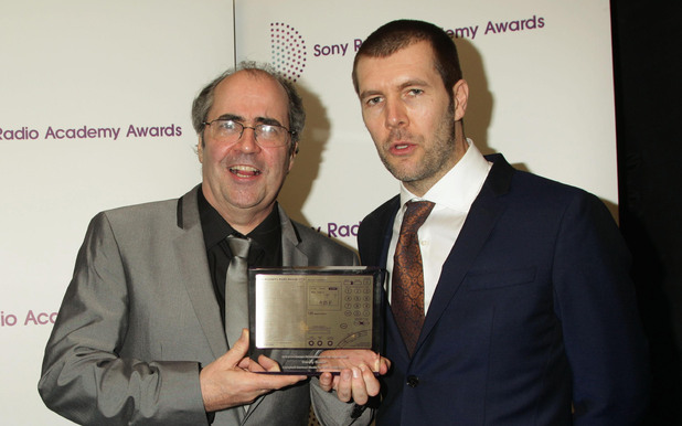 Danny Baker (L) and Rhod Gilbert at the Sony Radio Academy Awards