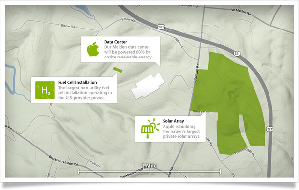 Apple Maiden Data Centre - Green power map