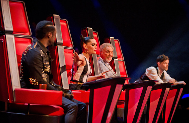 The Voice UK: The Judges watch their acts perform.