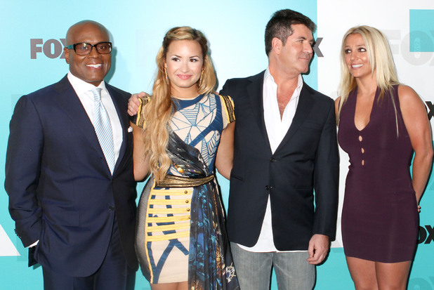 L.A Reid, Demi Lovato, Simon Cowell and Britney Spears