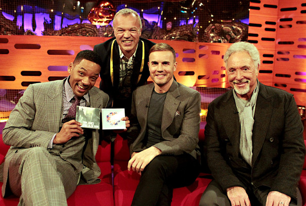 Graham Norton show guests TX May 18, 2012: Will Smith, Gary Barlow and Sir Tom Jones