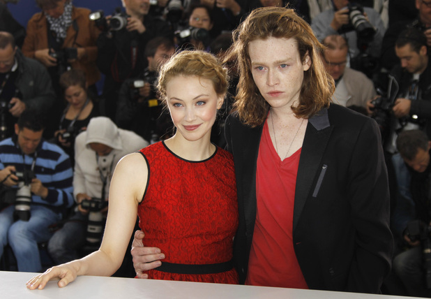 Sarah Gadon and Caleb Landry Jones.