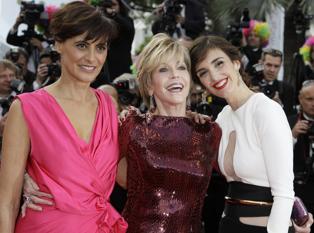 Madagascar 3: Europe's Most Wanted Cannes premiere: Ines De La Fressange, Jane Fonda and Paz Vega.