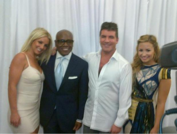 Britney Spears, LA Reid, Simon Cowell, Demi Lovato