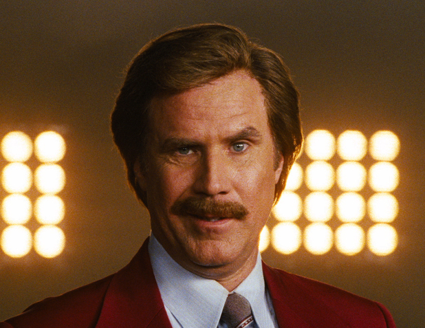 Will Ferrell as Ron Burgundy in 'Anchorman 2: The Legend Continues'.