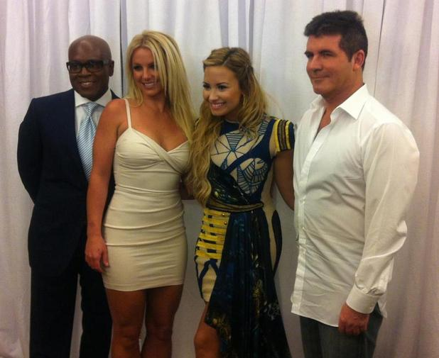 X Factor USA judges Britney Spears, Simon Cowell, Demi Lovato and LA Reid