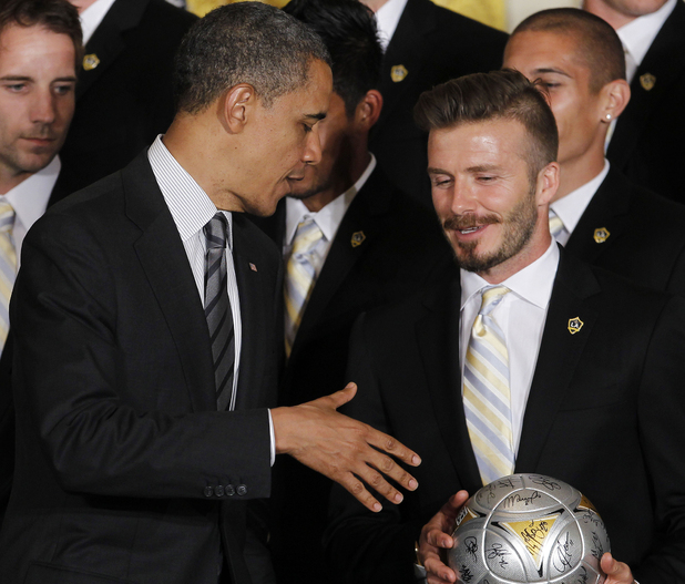 Barack Obama and David Beckham