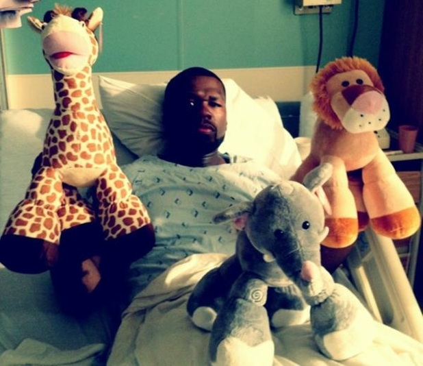 50 Cent in hospital