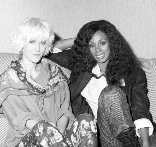 Paula Yates and Donna Summer