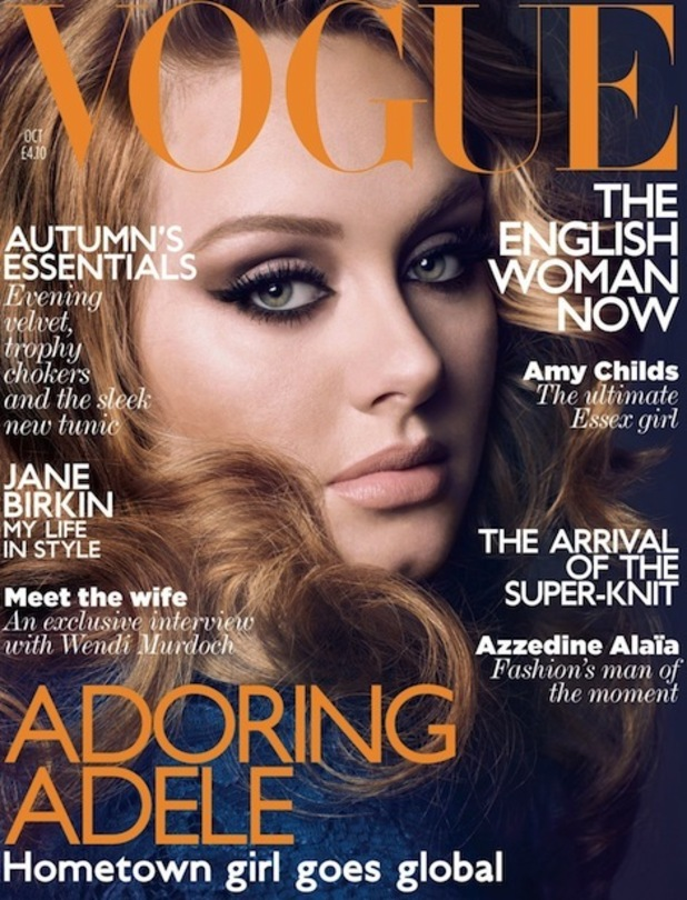 Adele on the cover of Vogue magazine