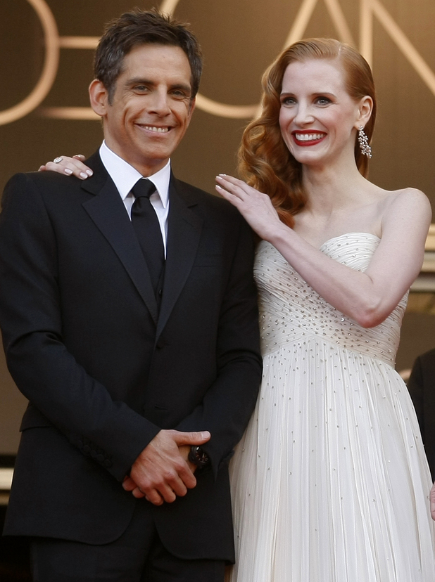 Madagascar 3: Europe's Most Wanted Cannes premiere: Ben Stiller and Jessica Chastain.