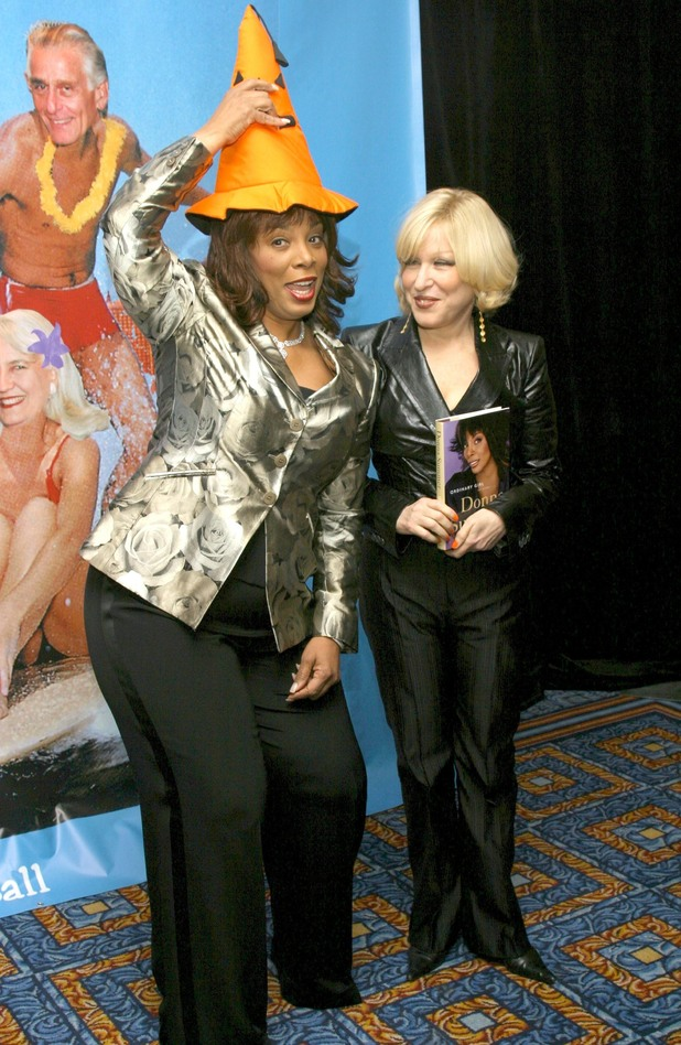 Donna Summer and Bette Midler