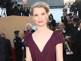 Mia Wasikowska arrives for the Lawless premiere.