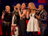 The Voice UK: Jessie J and her team perform.