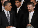 David Beckham and his LA Galaxy teammates meet the US President.