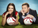 Pictures of this year's Soccer Aid team, Dermot O'Leary and Kirsty Gallacher.