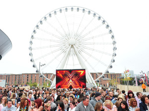 Crowd atmosphere at the X Factor auditions in Liverpool