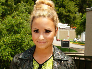 Demi Lovato arriving at The X Factor USA Texas Auditions at the Frank Erwin Center