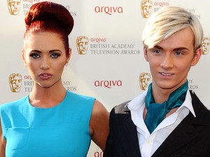 Amy Childs and Harry Durbridge arriving for the Arqiva British Academy Television Awards 2012 at the Royal Festival Hall, London.