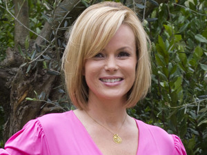 Britain's Got Talent judge Amanda Holden attended the Chelsea Flower Show in West London. She is pictured standing in the L'Occitaine Immortelle Garden