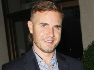 Former Take That singer Gary Barlow seen leaving the May Fair hotel in London