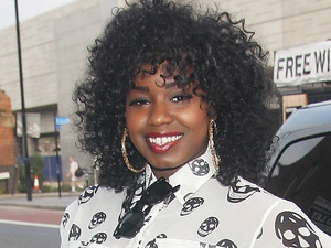 X-Factor finalist Misha B is pictured outside the RWD magazine album launch party at Shoreditch House in London