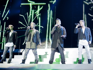 Westlife's Shane Filan, Kian Egan, Mark Feehily, Nicky Byrne perform at the 02 Arena, London
