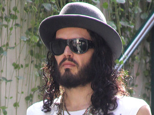 Russell Brand is seen out and about with his spiritual gurus at The Grove in Los Angeles