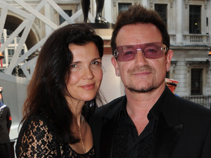 Bono and wife Ali Hewson arrive at 'A Celebration of the Arts' held at the Royal Academy of Arts, London