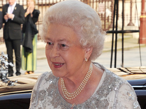 Queen Elizabeth II arrives at 'A Celebration of the Arts' held at the Royal Academy of Arts, London
