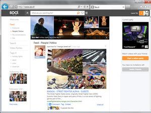 Microsoft new So.cl network - screenshot