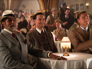 Amitabh Bachchan with Tobey Maguire and Leonardo DiCaprio in The Great Gatsby.
