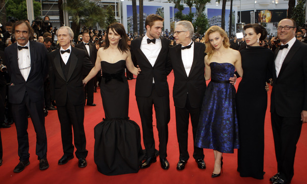 Cosmopolis Premiere:  Producer Paulo Branco, Writer Don Dellilo, Juliette Binoche, Robert Pattinson, Director David Cronenberg, Sarah Gadon, Emily Hampshire and Producer Martin Katz.