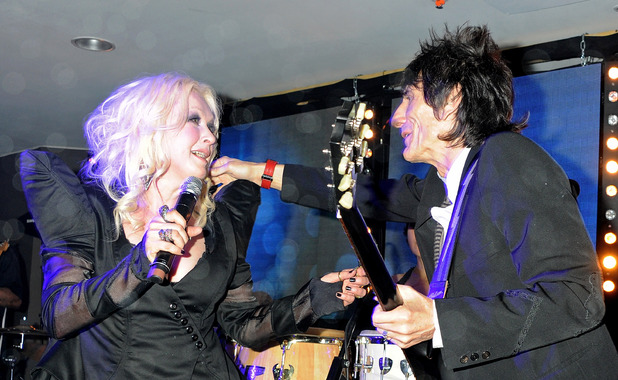 Cyndi Lauper and Ronnie Wood perform at the (BELVEDERE)RED Party in Cannes